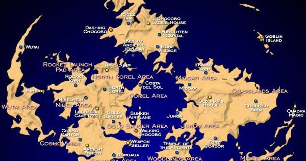 Map Of Gaia Final Fantasy VII Fantasy World Maps Pinterest Final Fantasy VII Final