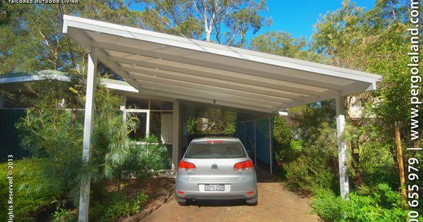 Slanted Attached Roof Carports ALUMINIUM FRAME CARPORTS