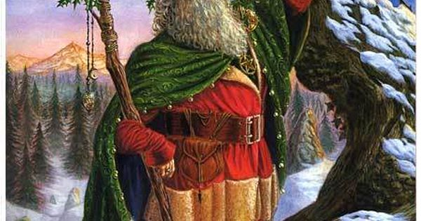 Pagan Origins Of Father Christmas Santa Pinterest