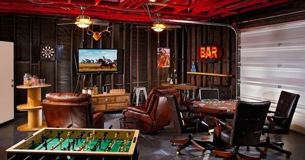 How To Create A Man Cave Garage Men Cave Man Cave