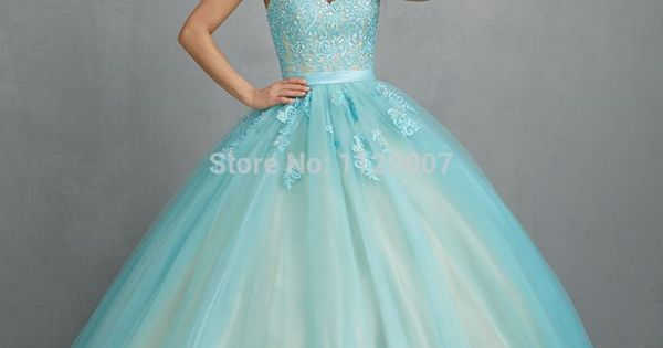 2015 Turquoise Quinceanera Dresses Masquerade Ball Gowns