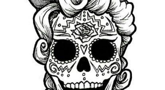 sugar skull coloring pages  bing images  i fucking love