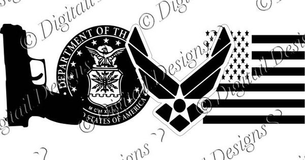 Download Love Air Force symbols SVG PNG DXF Cut File by ...