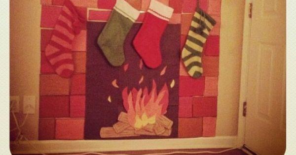 Construction Paper Fireplace Christmas Pinterest