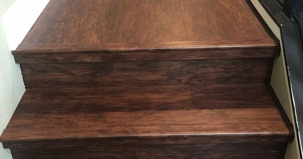 LVP Stair Installation Waterproof Lifeproof Big Bens Flooring Design Pinterest Railings