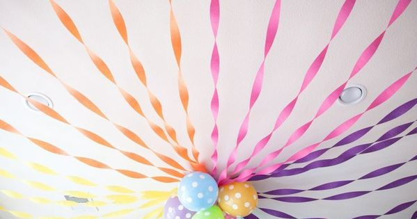 Party Create Streamers Ceiling