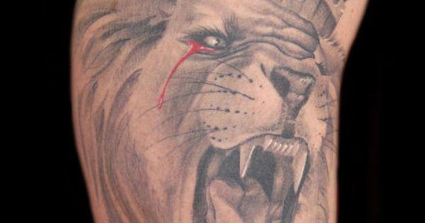 Leo Symbol Crown Tattoo