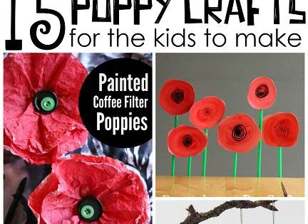 Beautiful Red Poppy Crafts For Kids To Make