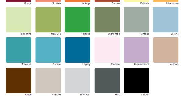 Decoart Americana Paint Color Chart