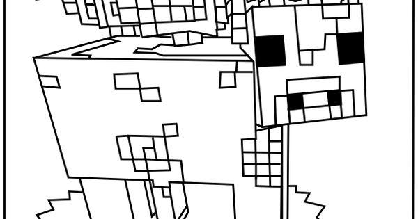 Minecraft Coloring Pages Printable Minecraft Mooshroom