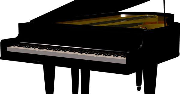 Black Piano Transparent Clipart