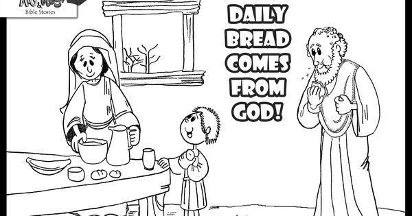 Widow Feeds Elijah Coloring Page