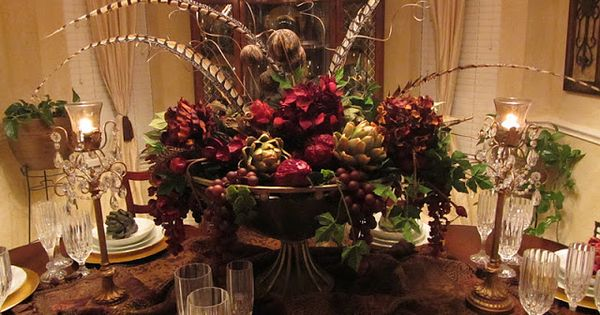Tuscan Centerpieces For Dining Room Tables Silk Florals