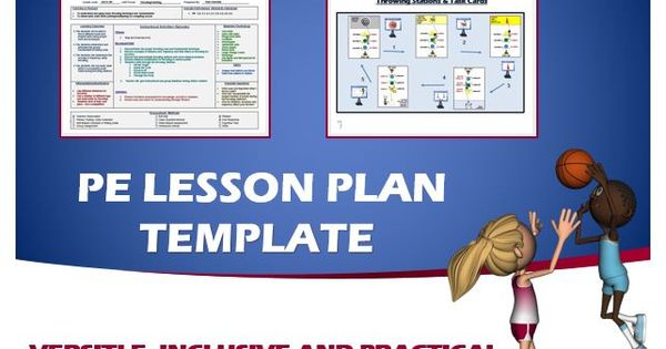 Physical Template Education Editable Plan Lesson