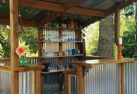DIY How To Build A Shed Corrugated Tin Outdoor Bars And