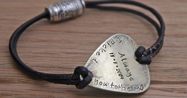 Pick Guitar Men Personalized Necklace