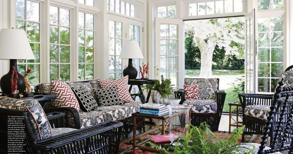 Black Red And White Sunroom With Lots Of Windows Rob Southern Solariums Sunrooms Patios