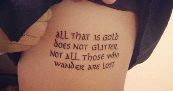 Rings Lord Who Wander Elvish Are Tattoos All Not Lost