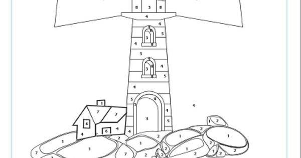 Lighthouse Printable Color By Numbers Beaconsbeach