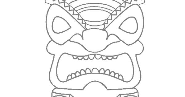 tiki mask stuff pinterest masks coloring pages and coloring
