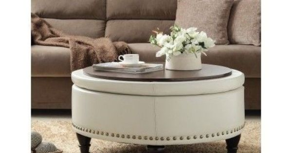 Cream Ottoman Coffee Table