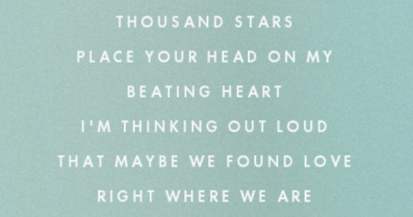 Kiss Me Under Light Thousand Stars