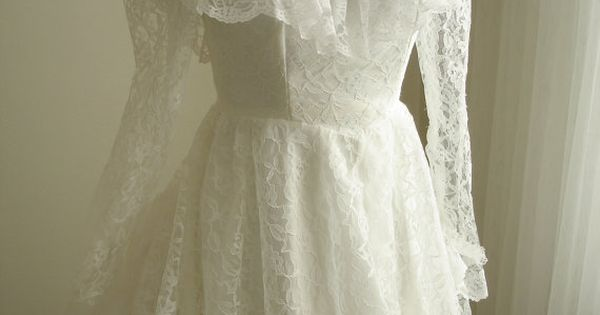 Vintage Antebellum Southern Belle Wedding Dress By