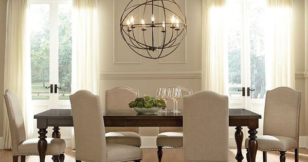 Stylish Dining Room. The Unique Lighting Fixture Really