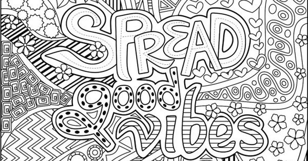 Printable Spread Good Vibes Coloring Page For By