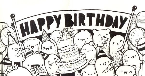 Adult Coloring Page Happy Birthday 10 Happy Birthday