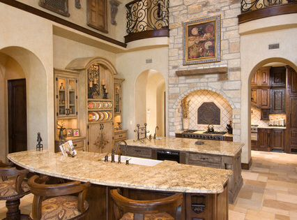 Beautiful Tuscan Kitchen Notice The Wrought Iron And