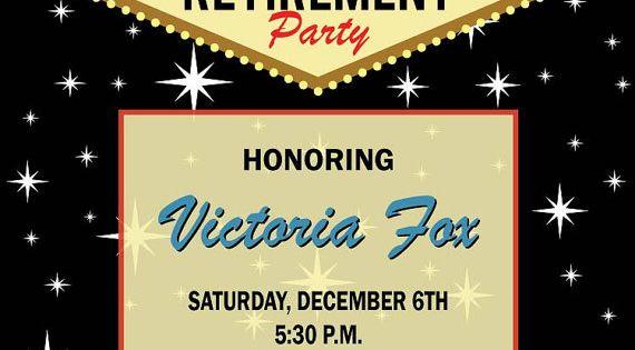 Las Vegas Retirement Invitation Casino Theme By