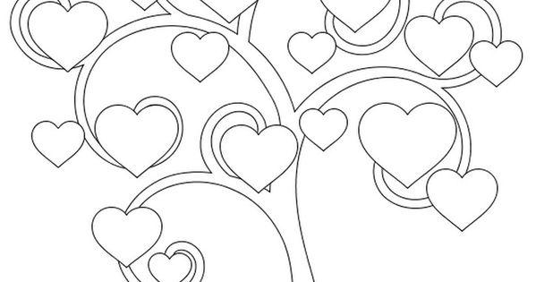 Baum Der Herzen Kids Pinterest Vorlagen Quilling