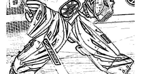 Goalie Coloring Pages Nhl