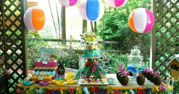 Hawaiian Theme Birthday Party Beach Ball Decor