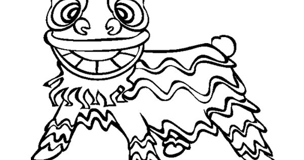 chinese new year lion dance coloring page  kids coloring