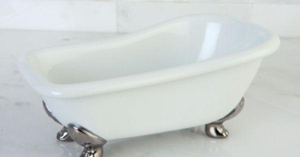 Kingston Miniature White Clawfoot Bath Tub Soap Dish