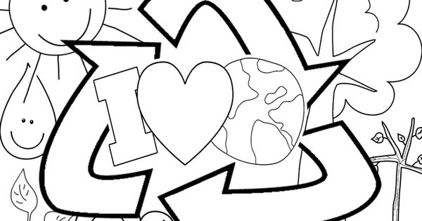 Earth Day Coloring Sheet FREEBIE Earth Day Pinterest
