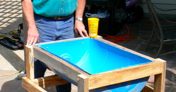 Plastic Drum Planter Garden Beds Pinterest Plastic