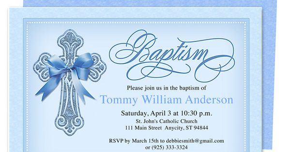 Baptism Invitations Toronto