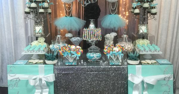 Turquoise White And Black With Silver Accents Candy
