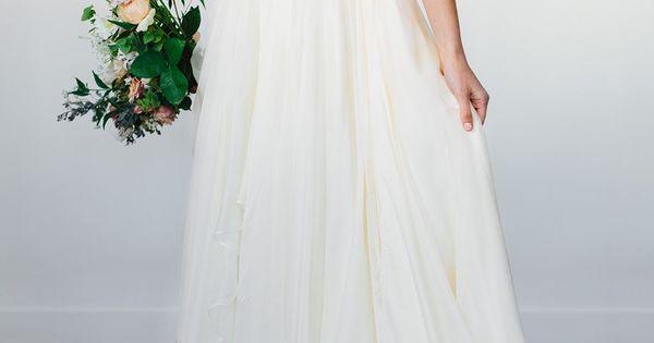 Modest Wedding Dress With A Flowy Bottom From Alta Moda