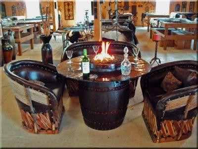 Wine Barrel Fire Table Crafty Ideas Pinterest