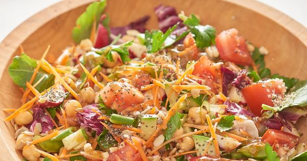 Image result for Recipe: Make-Ahead Chicken and Veggie Chopped Salad