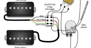 Seymour Duncan PRails wiring diagram  2 PRails, 1 Vol, 3 Way & onoffon Mini Toggle | Tips
