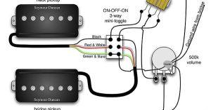 Seymour Duncan PRails wiring diagram  2 PRails, 1 Vol, 3 Way & onoffon Mini Toggle | Tips
