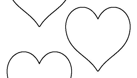 Arrows 8 Inch Heart Template