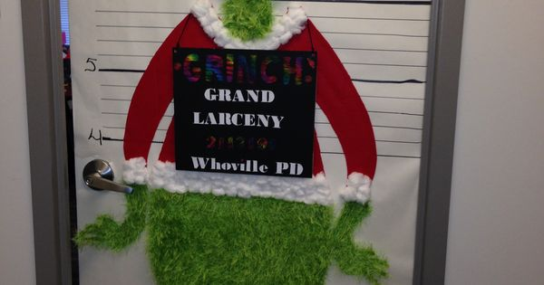 The Grinch Christmas Office Door Decorating Contest