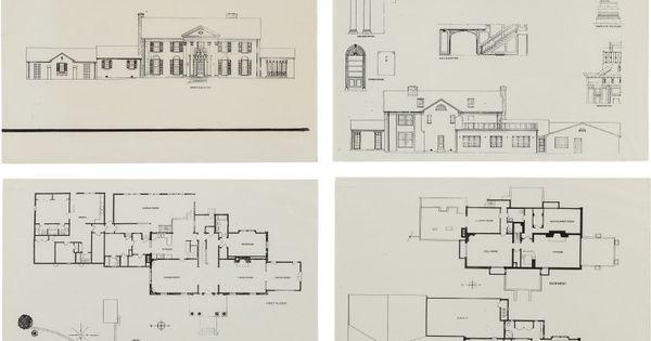 Elvis Presley Blueprints To Graceland Mansion