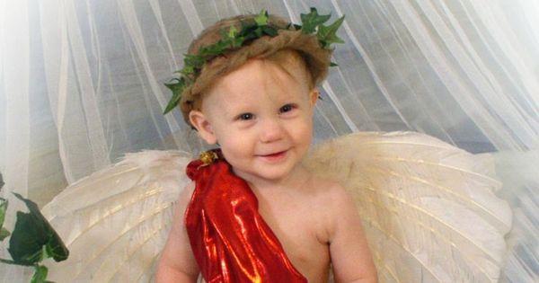 Baby Boy Cupid Costume Angel Valentines Day Portrait